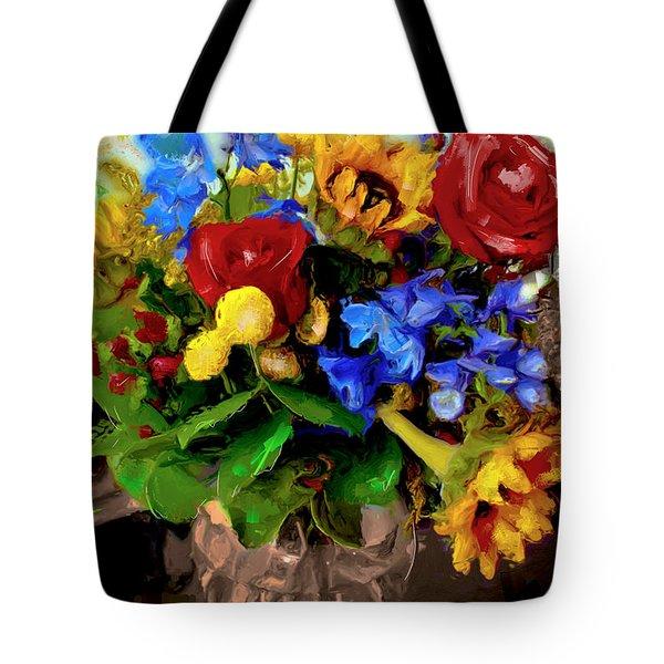 Les Fleurs Tote Bag by Ted Azriel