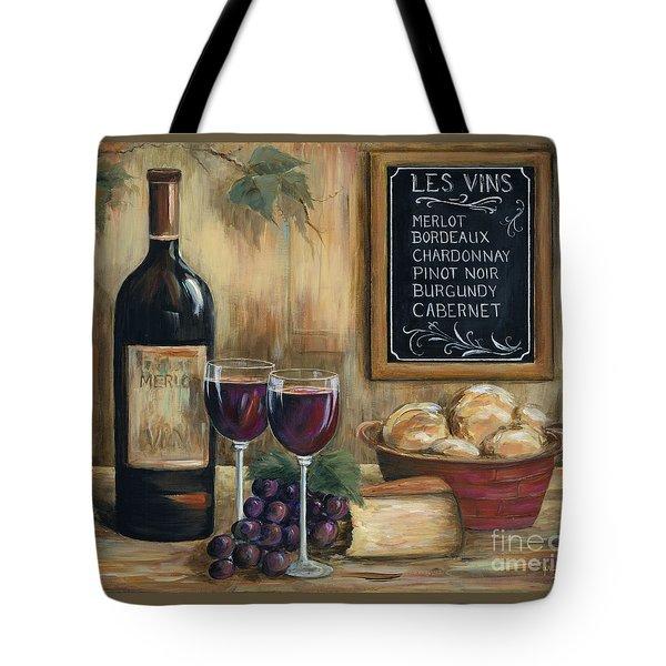 Les Vins Tote Bag by Marilyn Dunlap