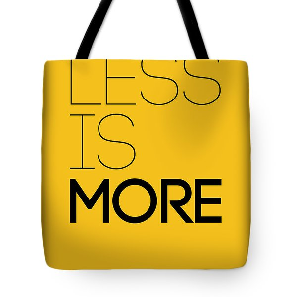 Less Is More Poster Yellow Tote Bag
