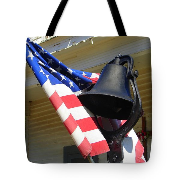 Let Freedom Ring Tote Bag by Lew Davis