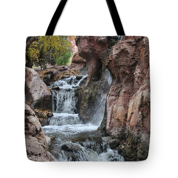 Tote Bag featuring the photograph Let It Fall by Amanda Eberly-Kudamik