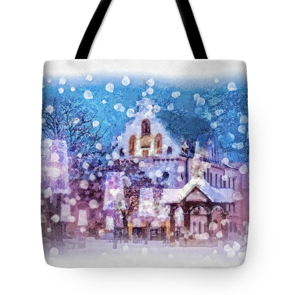 Let It Snow Tote Bag by Mo T