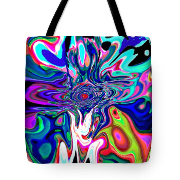 Jesus Talks Cross Original Contemporary Modern Abstract Expressionism Art Painting.  Tote Bag