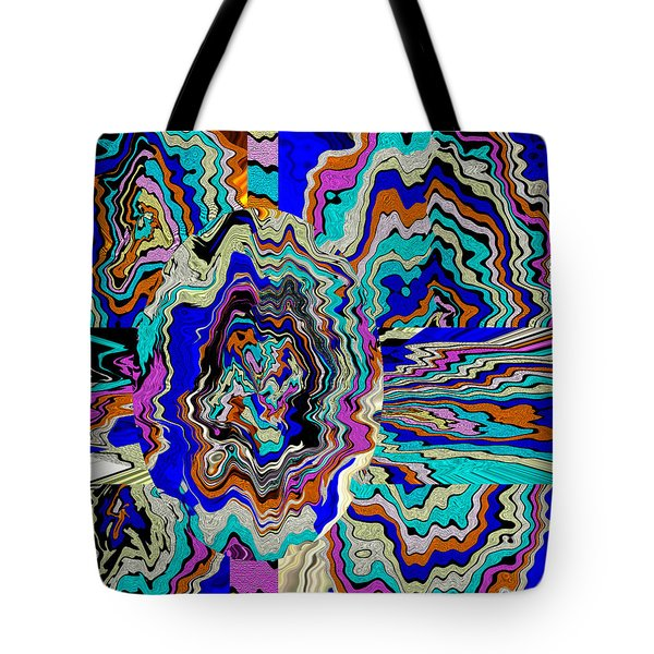 Original Abstract Art Painting Let Life Bloom Tote Bag