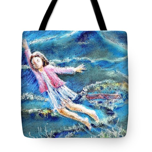Tote Bag featuring the painting Let Me Play Among The Stars  by Trudi Doyle