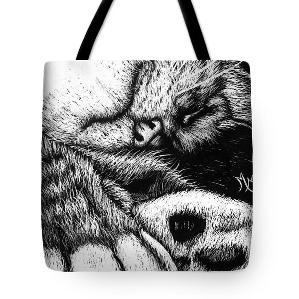 Let Sleeping Cats Lie Tote Bag