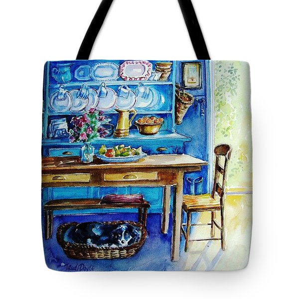 Let Sleeping Dogs Lie Tote Bag by Trudi Doyle