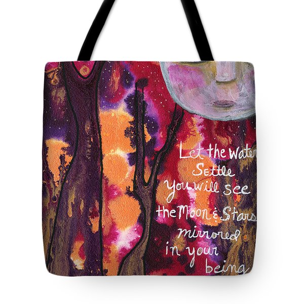 Let The Water Settle Tote Bag