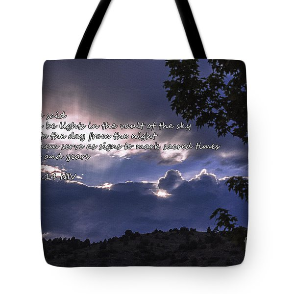 Let There Be Light Tote Bag by Janice Rae Pariza