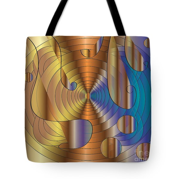 Tote Bag featuring the digital art Let There Be Music  2 by Iris Gelbart