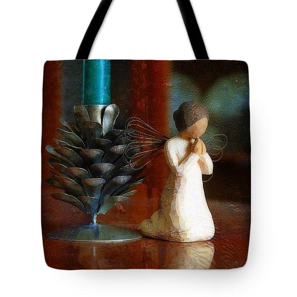 Let Us Pray Tote Bag