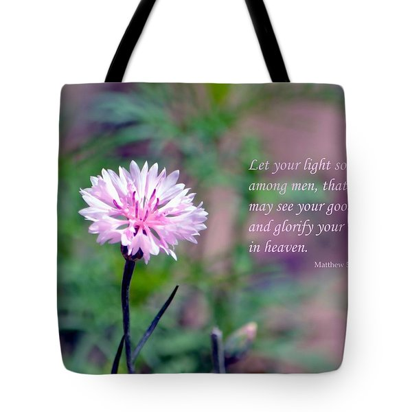 Let Your Light So Shine Tote Bag by Deena Stoddard