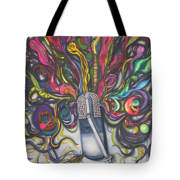 Tote Bag featuring the painting Let Your Music Flow In Harmony by Chrisann Ellis
