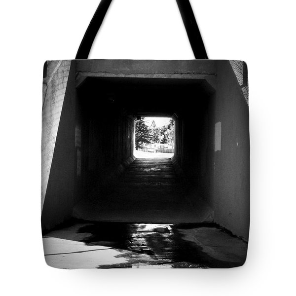 Lethbridge Underpass Tote Bag by Donald S Hall