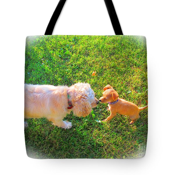 Let's Be Friends Tote Bag by Tina M Wenger