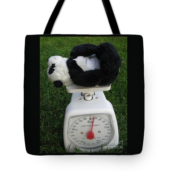 Tote Bag featuring the photograph Let's Check My Weight Now by Ausra Huntington nee Paulauskaite