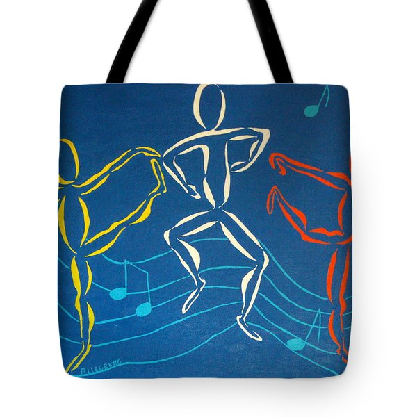 Let's Dance Tote Bag by Pamela Allegretto