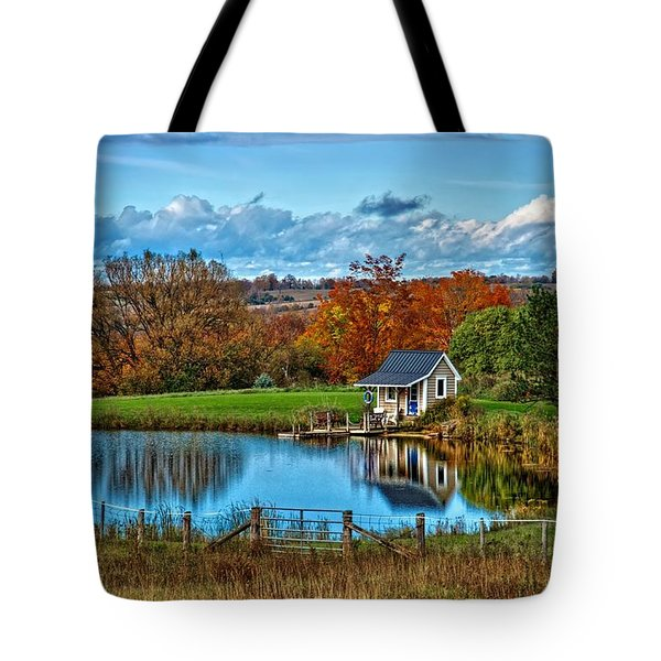 Let's Go Fishing Tote Bag