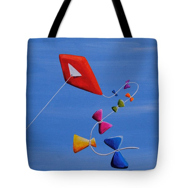 Let's Go Fly A Kite Tote Bag by Cindy Thornton
