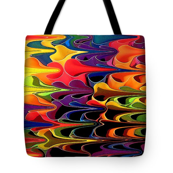 Tote Bag featuring the digital art Lets Go This Way by Mary Bedy