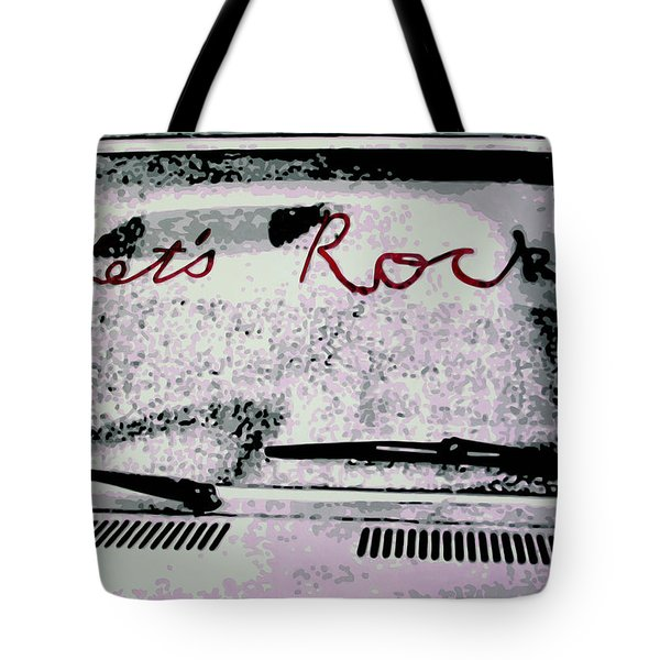 Tote Bag featuring the painting Lets Rock by Luis Ludzska