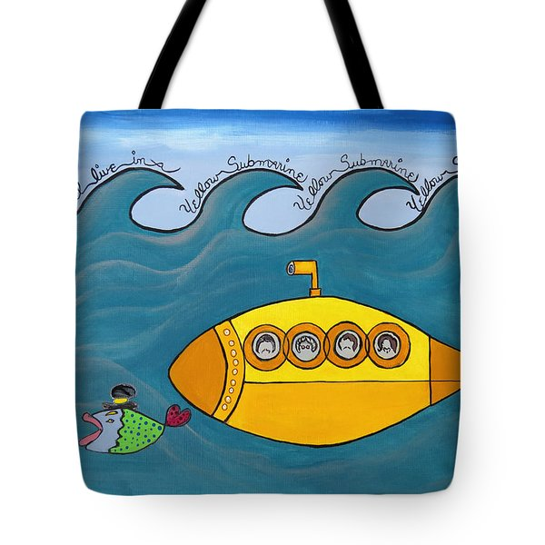 Lets Sing The Chorus Now - The Beatles Yellow Submarine Tote Bag