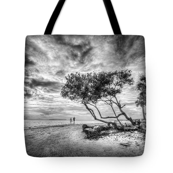 Let's Stay Here Forever Bw Tote Bag