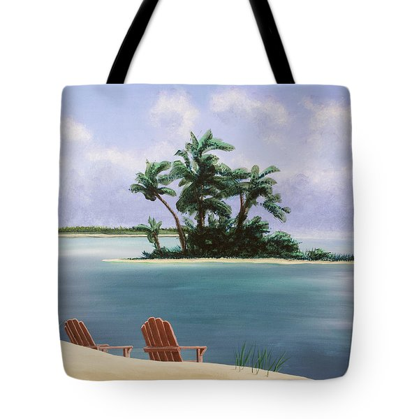 Let's Swim Out To The Island Tote Bag