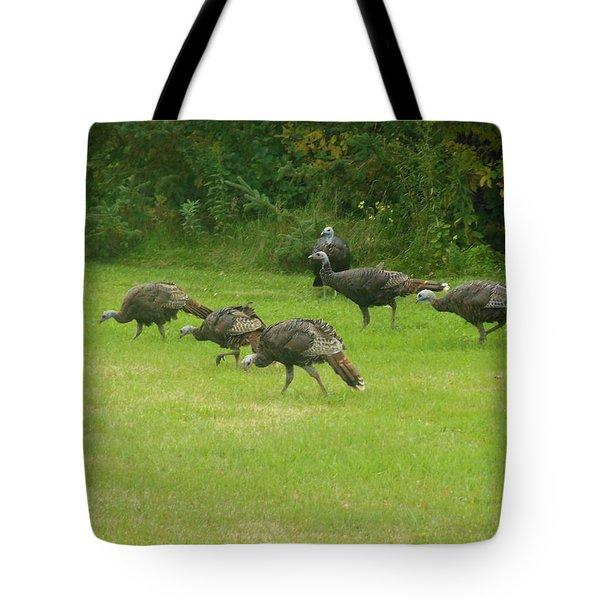 Let's Turkey Around Tote Bag