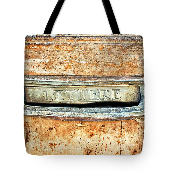 Lettere Letters Tote Bag