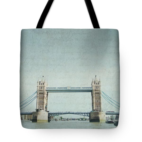 Letters From Tower Bridge - London Tote Bag