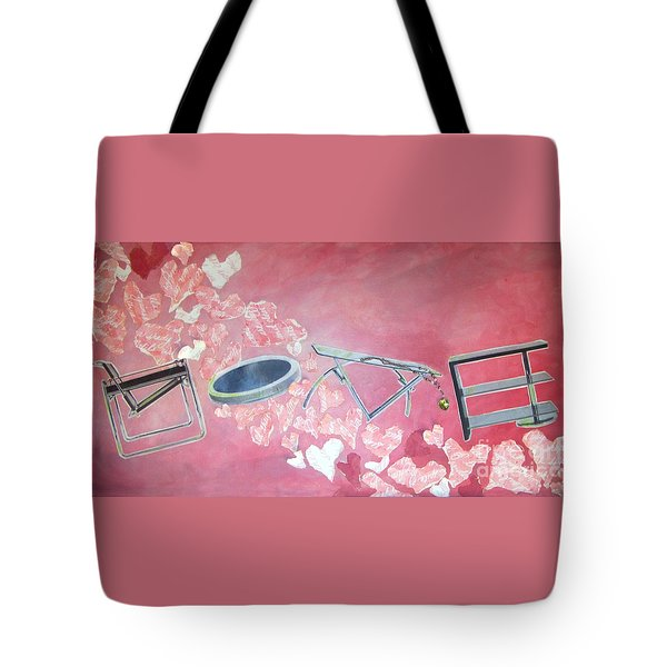 Letters Of Love Tote Bag