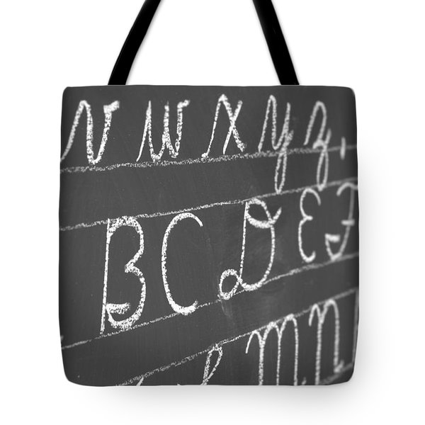 Letters On A Chalkboard Tote Bag