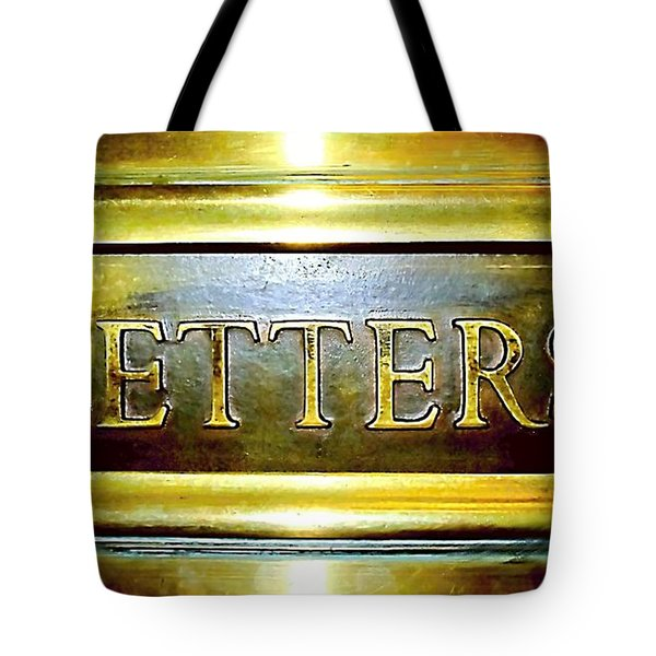 Letters Trough The Door Tote Bag