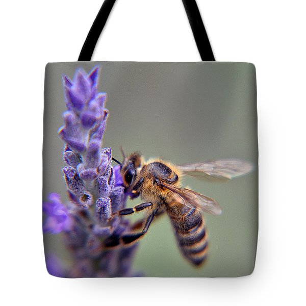 Levander And Bee Tote Bag