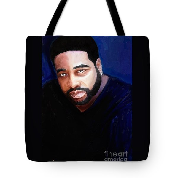 Tote Bag featuring the painting Levert by Vannetta Ferguson
