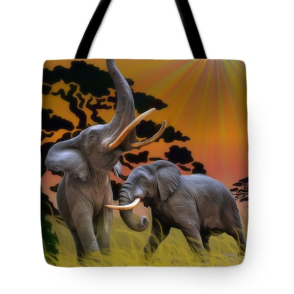 Leviathans Of The Land Tote Bag by Dan Stone