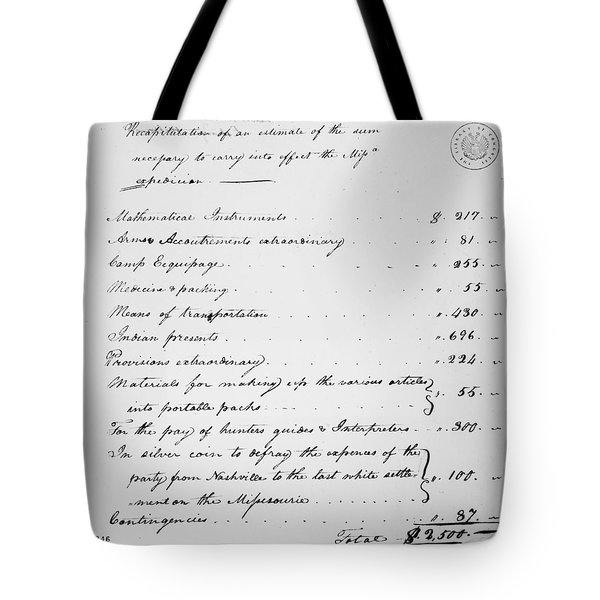 Lewis Expedition Summary Tote Bag