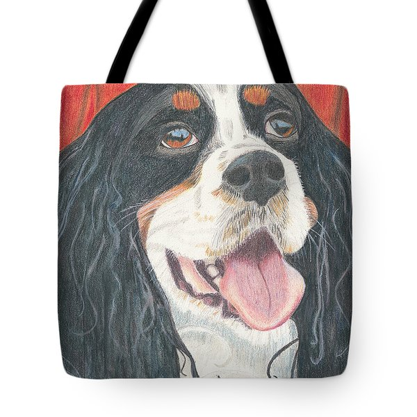 Tote Bag featuring the drawing Lexie by Arlene Crafton