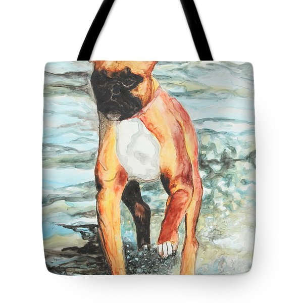 Tote Bag featuring the painting Leyla by Jeanne Fischer