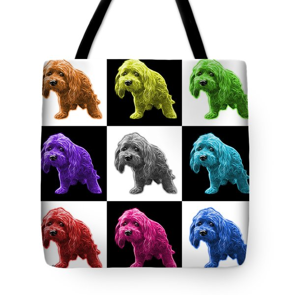 Lhasa Apso Pop Art - 5331 - V2- M Tote Bag