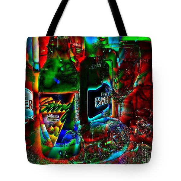 Libations Tote Bag by Linda Bianic