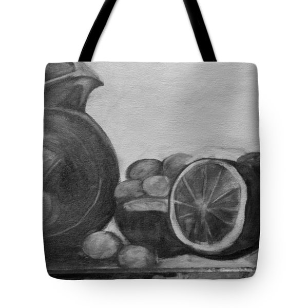 Libations Bw Tote Bag