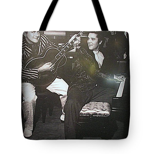 Liberace And Elvis Tote Bag