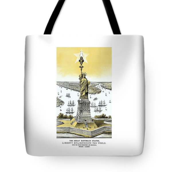 Liberty Enlightening The World  Tote Bag by War Is Hell Store