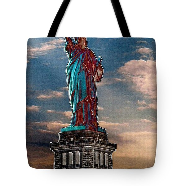 Tote Bag featuring the photograph Liberty For All by Luther Fine Art