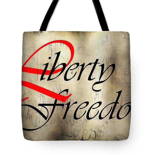 Liberty Freedom Tote Bag by Daniel Hagerman