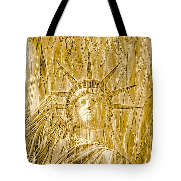 Tote Bag featuring the photograph Liberty Is Golden by Dyle   Warren