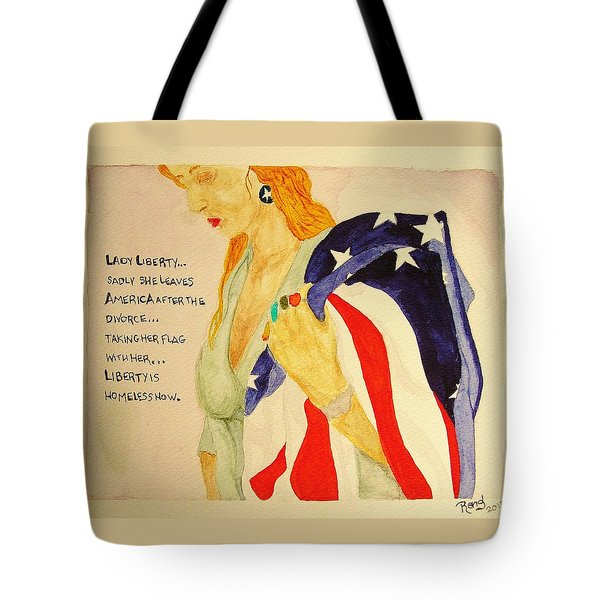 Tote Bag featuring the painting The Divorce Of Liberty by Rand Swift
