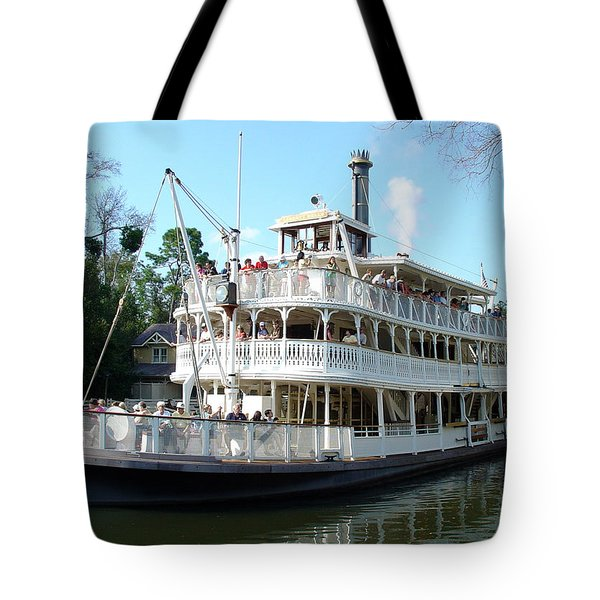 Tote Bag featuring the photograph Liberty Riverboat by David Nicholls